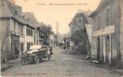 Lacroix Barrez Grande Rue (cpa rare voiture ancienne - Lacroix-Barrez
