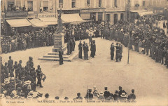 Saint Affrique Place De La Liberte Remise Aux Veterans De La Medaille - Saint-Affrique