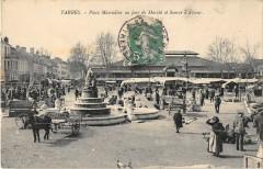 Tarbes Place Marcadieu Un Jour De Marche Et Source D'Amour - Tarbes