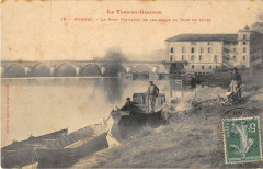 Moissac Le Pont Napoleon Et Les Bords Du Tarn En Hiver - Moissac
