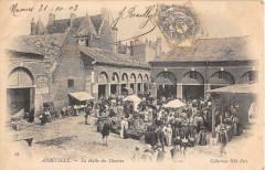 Abbeville La Halle Des Denrees (dos non divisé) - Abbeville