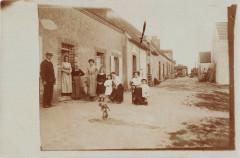 Langon Carte Photo Centre Du Village - Langon