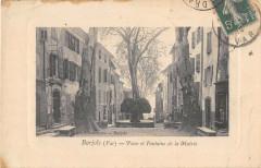 Barjols Place Et Fontaine De La Mairie - Barjols