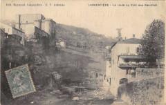 Largentiere La Route Au Pont Des Recollets - Largentière