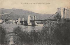 Le Teil Le Pont Suspendu Sur Le Rhone - Le Teil