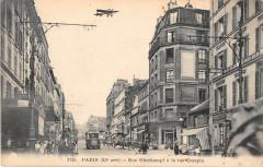 Paris XIe Rue Oberkampf A La Rue Crespin (Avion cliché rare - Paris 11e