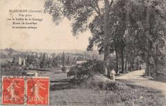 Blasimon Vue Prise Sur La Vallee De La Gamage Route De Castillon - Blasimon