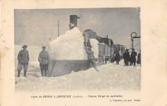 Ligne de Mende à Labastide - Chasse Neige en opération - Mende