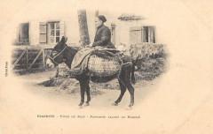 Biarritz Type Du Pays Paysanne Allant Au Marche  (dos non divisé) - Biarritz
