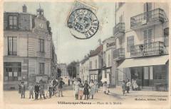 Villiers Sur Marne Place De La Mairie (cliché colorisé (pas courant 94 Villiers-sur-Marne