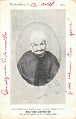 La Centenaire De Montmorency Henriette Levacher (dos non divisé) - Montmorency