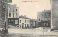 Bussieres Place De L'Eglise (dos non divisé) (cpa pas courante - Bussières