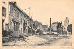 Vercel La Fontaine Et La Rue De L'Eglise - Fontain