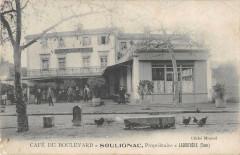 Labruguiere Cafe Du Boulevard Soulignac Proprietaire (cpa rare - Labruguière