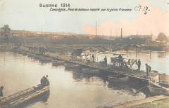 Compiegne Pont De Bateaux Installe Par Le Genie Francais - Compiègne