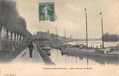Conflans Sainte Honorine Une Vue Sur La Seine (cliché pas courant - Conflans-Sainte-Honorine