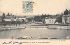 Les Fontaines Et Le Viaduc De Marly Le Roi  (dos non divisé) - Marly-le-Roi