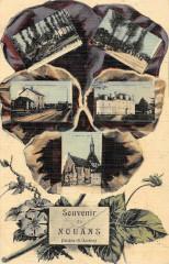 Souvenir De Nouans (cpa toilée émaillée - Maillé