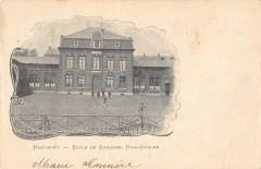 Hautmont Ecole De Garcons Rive Gauche (dos non divisé) cliché rare - Hautmont