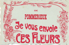 De Pommerieux Je Vous Envoie Ces Fleurs - Pommerieux