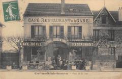 Conflans Sainte Honorine Place De La Gare Cafe De La Gare (cpa rare - Conflans-Sainte-Honorine
