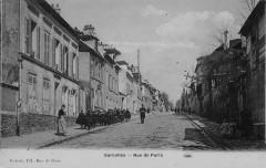 Sarcelles Rue De Paris (cpa émaillée - Sarcelles