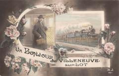 Un Bonjour De Villeneuve Sur Lot Train - Villeneuve-sur-Lot