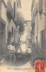 Agde Inondations Du 26 Sept 1907 La Rue De La Poissonnerie - Agde
