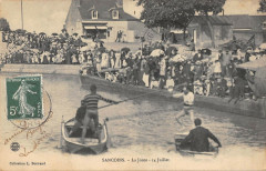 Sancoins La Joute Le 14 Juillet (cpa rare - Sancoins