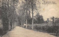 Le Houga Avenue D'Aire Sur Adour (cliché pas courant - Le Houga