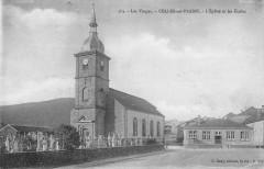Celles Sur Plaine L'Eglise Et Les Ecoles - Celles-sur-Plaine