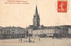 Place Nationale et Eglise Notre-Dame - Ligny-en-Barrois