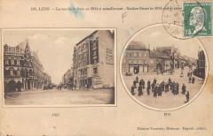 Lens La Rue De La Gare En 1914 - Lens