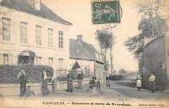 Chocques Brasserie Et Route De Gonehem (cpa rare - Chocques