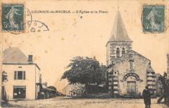 Louroux De Bouble Eglise Et Place - Louroux-de-Bouble