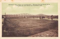 Moissac En Reconstruction Nouveau Pont Du Chemin De Fer (cliché rare - Moissac