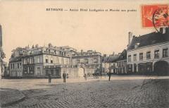 Bethune Ancien Hotel Lesdigniere Et Marche Aux Poulets - Béthune