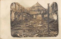 Carte Photo Le Bombardement De Thann Route De Massevaux (cliché unique - Thann