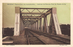 Moissac En Recontruction Interieur Du Nouveau Pont Du Chemin De Fer - Moissac