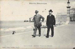 Biarritz Sur La Plage Edouard Vii Et Son Medecin - Biarritz
