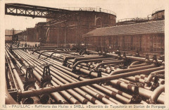 Pauillac Raffinerie Des Huiles Shell Ensemble Tuyauterie Station Pompage - Pauillac