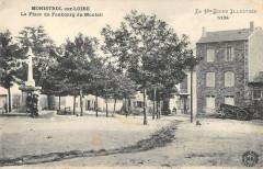 Monistrol Sur Loire La Place Du Faubourg Du Monteil - Monistrol-sur-Loire