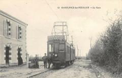 Saint Sulpice Les Feuilles La Gare (Train En Joli Plan - Saint-Sulpice-les-Feuilles
