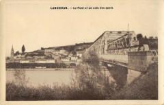 Langoiran Le Pont Et Un Coin Des Quais - Langoiran