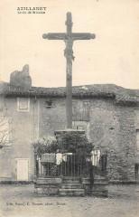 Azillanet Croix De La Mission (cpa rare - Azillanet