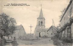 Bussieres Sous Pionsat Place Monument Aux Morts - Bussières