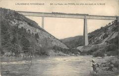 Le Viaduc Des Fades Vue Prise Des Bords De La Sioule - Ris