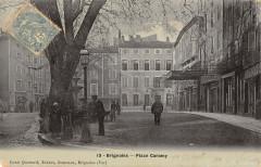 Brignoles Place Caramy (cpa émail - Brignoles