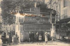 Blois La Fontaine Louis Xii (belle cpa animée - Blois