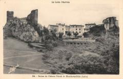 Ruines Du Chateau Feodal De Rochetaillee - Roche